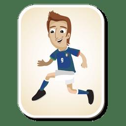 Dibujos animados de jugador de fútbol de Italia