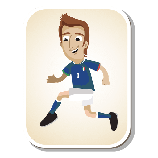Desenho de jogador de futebol de Itália Transparent PNG