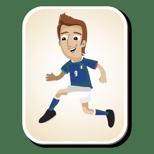 Dibujos animados de futbolista de Italia Transparent PNG
