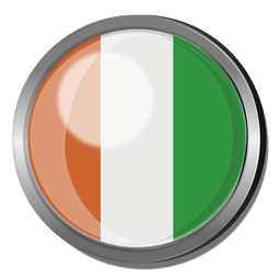 Ivory coast flag badge