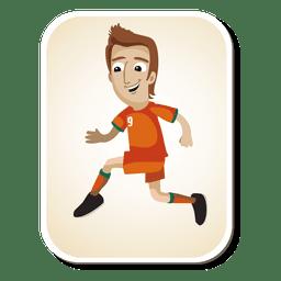 Desenhos animados do jogador de futebol da Costa do Marfim