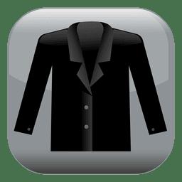 Ícone quadrado de jaqueta