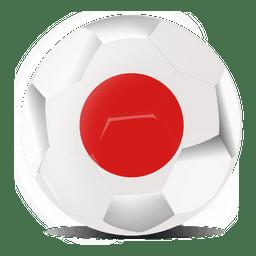 Bandera de futbol de japon