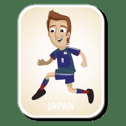 Dibujos animados de jugador de fútbol de Japón