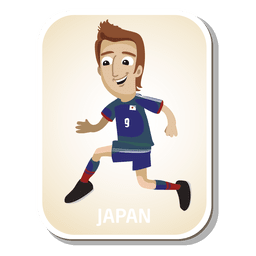 Japan football player cartoon