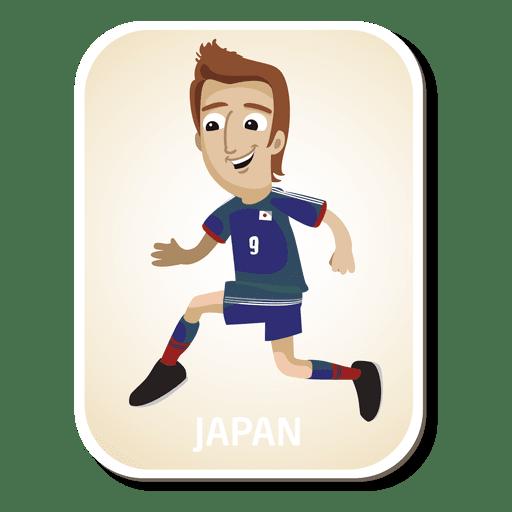Japan-Fußballspieler-Cartoon Transparent PNG
