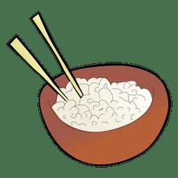 Tigela de arroz japonês