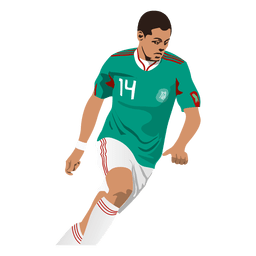 Desenho animado de Javier Hernandez
