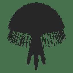 Silueta de icono de medusa