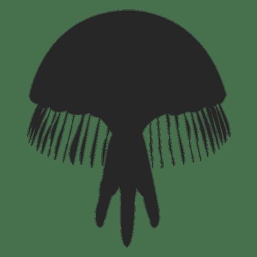 Jellyfish icon silhouette