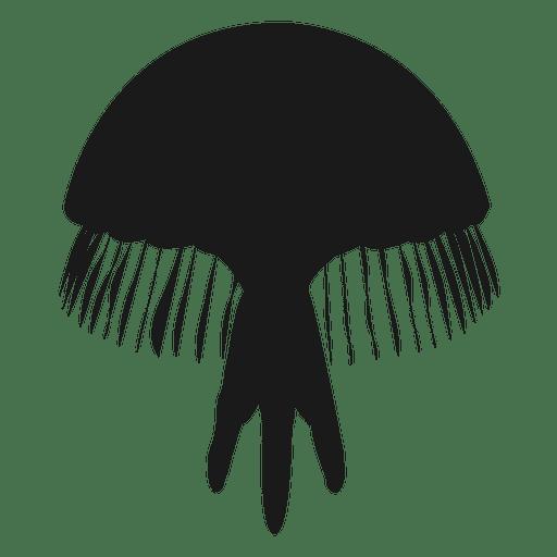 Silueta de medusas