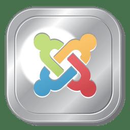 Joomla metallic button