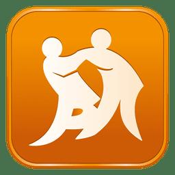 Judo square icon