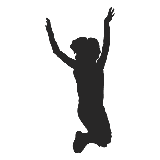 Kids playing silhouette