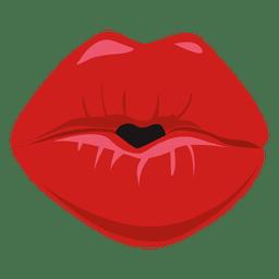 Beijando a expressão dos lábios