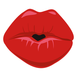 expressão lábios de beijo