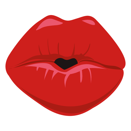 Kissing lips expression