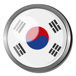 Korea flag badge