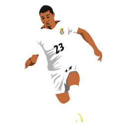 Kwadwo Asamoah footballer cartoon