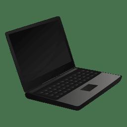Ícone dos desenhos animados do portátil