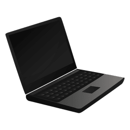 Laptop cartoon icon