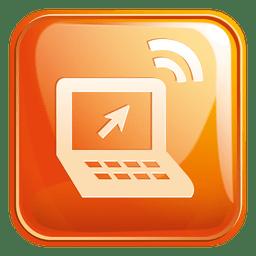 Icono cuadrado del ordenador portátil 3