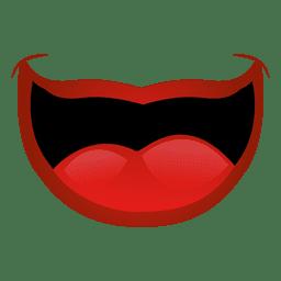 Boca grande y roja