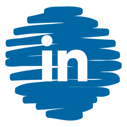 Linkedin distorcida ícone redondo