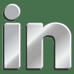 Linkedin silver icon