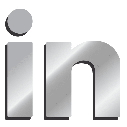 Linkedin Silver Icon Transparent Png Svg Vector