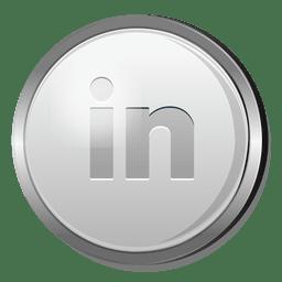 3D linkedin silver icon