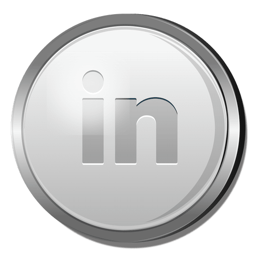 3d Linkedin Silver Icon Transparent Png Svg Vector