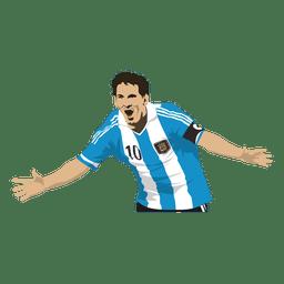 Desenho de Lionel messi