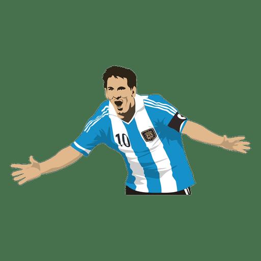 Lionel Messi mejor jugador de la ilustracin  Descargar vector