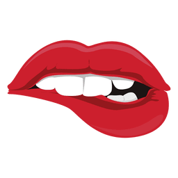Expresión de mordedura de labios