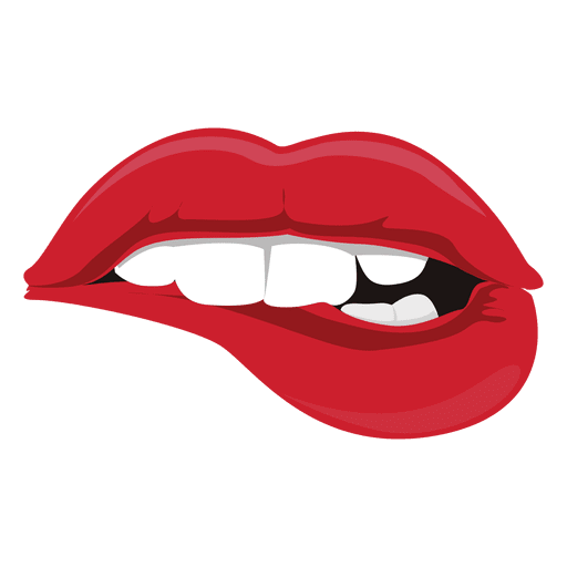 lips biting expression transparent png svg vector rh vexels com vector lips black and white vector lips tutorial