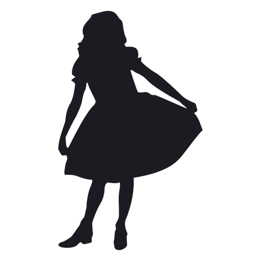Little girl dancing silhouete Transparent PNG