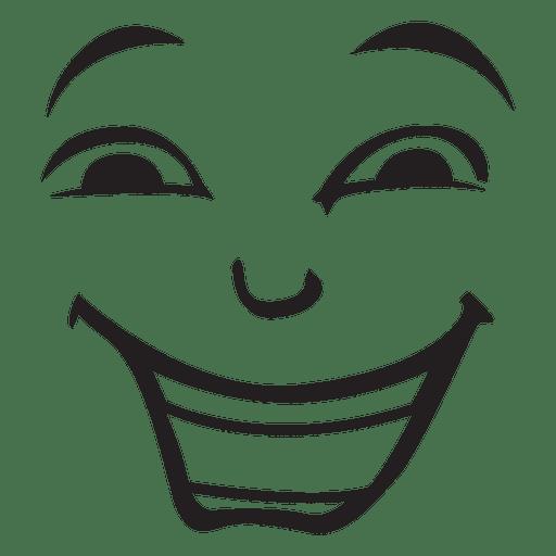 Emoticon cara de lough Transparent PNG
