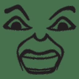 Loughing desenhado à mão emoticon