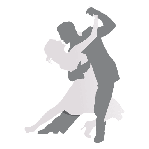 Lovers dancing silhouette Transparent PNG