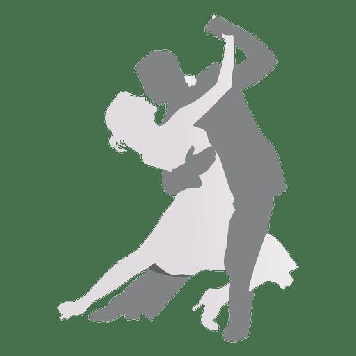 Lovers dancing silhouette