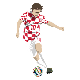 Luka modric cartoon