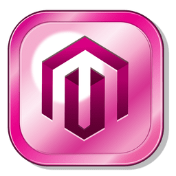 Magento metallic button