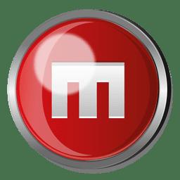 Magento round metal button