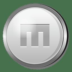 Icono de plata magento 3D