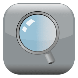 Magnifing glass square icon