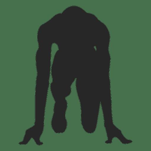 Corredor de atleta masculino
