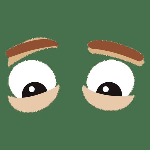 Expresión de ojos masculinos