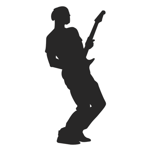 Male guitarist silhouette 4 - Transparent PNG & SVG vector