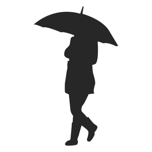 Male walking with umbrella Transparent PNG